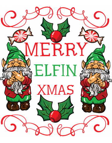 Merry elfin xmas