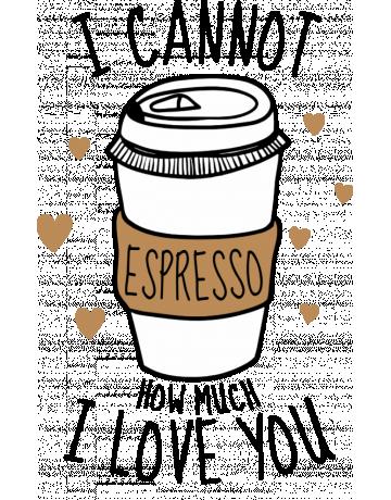 I cannot espresso